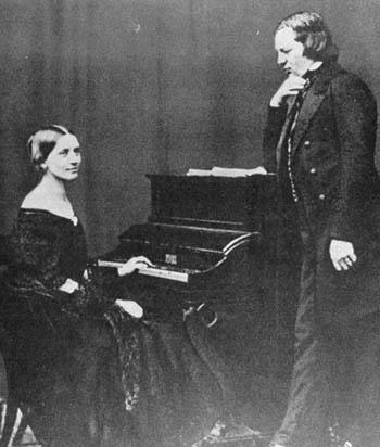Clara Wieck y Robert Schumann