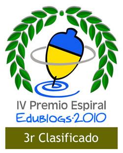 3r clasificado Edublogs 2010
