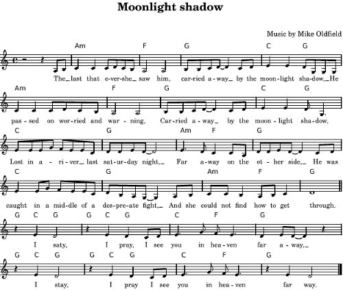 Moonlight Shadow en Wikifonía