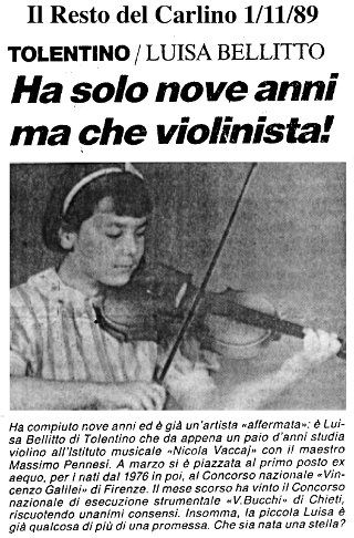 Luisa Bellitto: Il Resto del Carlino - 1 nov 1989