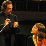Riccardo Muti y Luisa Bellitto durante un ensayo