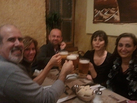 Massimo, Pepa, José Luis, Ana y Rosa