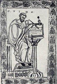 Guido d'Arezzo (PD Wikipedia)