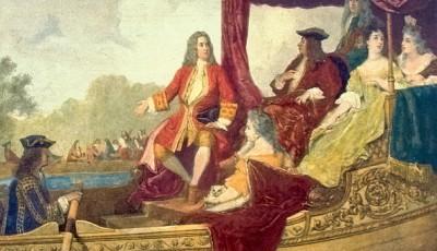 Händel y Jorge I en el Támesis