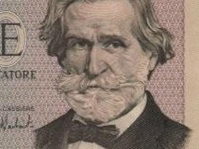 Billete de mil liras con Giuseppe Verdi (anverso)