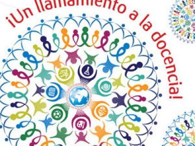 Cartel oficial del Día Mundial de los Docentes
