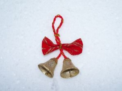 Christmas bells in the snow