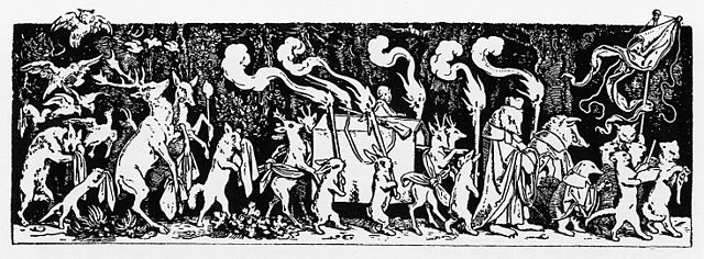 """Moritz von Schwind: """"Wie die Thiere den Jäger begraben"""""""
