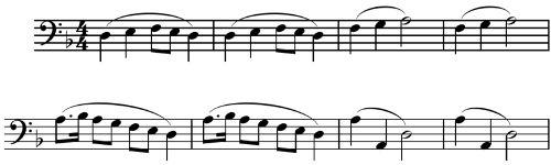 Primer tema del tercer movimiento de la Sinfonía nº1 de Mahler