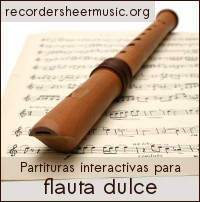 Partituras interactivas para flauta dulce